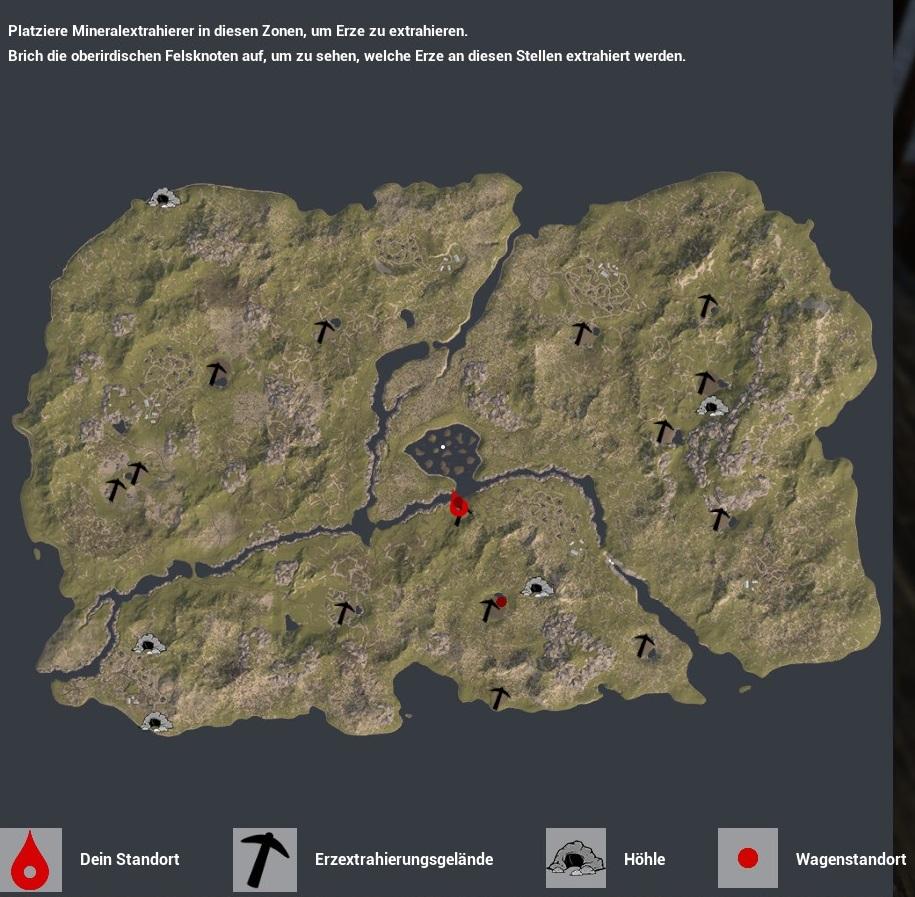 The Infected Map Karte Standorte Wagen